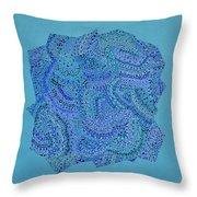 Voilet Spiral Throw Pillow