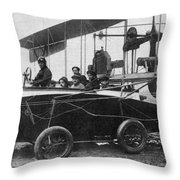 Voisin Flying Machine, 1912 Throw Pillow