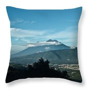 Volcan De Agua Antiqua Gutemala 3 Throw Pillow
