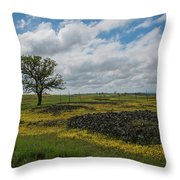 Volcanic Blooms Throw Pillow