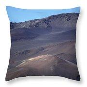 Volcanic Cinder Cones In Haleakala Throw Pillow