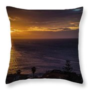 Volcanic Sunrise Throw Pillow