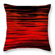 Volcanic Water Throw Pillow
