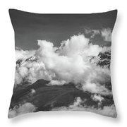 Volcano Chachani In Arequipa Peru Covered By Clouds Throw Pillow