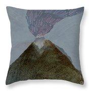 Volcano Dawn - Original Acrylic Painting Throw Pillow
