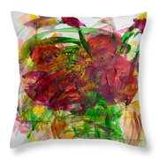 Volcano In Red Throw Pillow