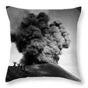 Volcano: Java, 1910 Throw Pillow
