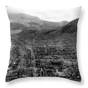 Volcano: Mount Pelee, 1902 Throw Pillow