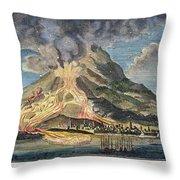 Volcano: Mt. Etna Throw Pillow