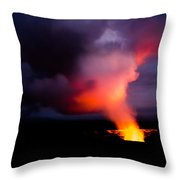Volcano Sunset Throw Pillow