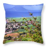 Volcano Viewed From Brimstone Hill Throw Pillow by Thomas R Fletcher