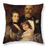 Volkov Manzei Family Makarov. 1890 Throw Pillow