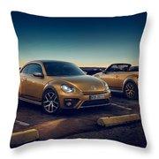 Volkswagen Beetle Dune 4k 2 Throw Pillow