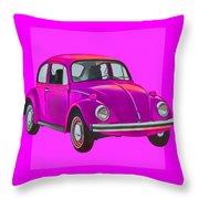 Volkswagen Beetle So Pinks Throw Pillow