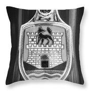 Volkswagen Vw Beetle Emblem -0949bw Throw Pillow