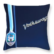 Volkswagen Vw Bug Hood Emblem Throw Pillow