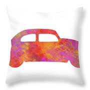 Volkswagom Beetle Art Flames Throw Pillow