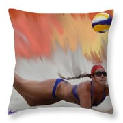 Volleyball Dig Throw Pillow