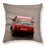 Volvo 340 Drift Throw Pillow
