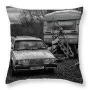 Volvo And Trailer Throw Pillow