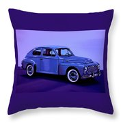 Volvo Pv 544 1958 Mixed Media Throw Pillow