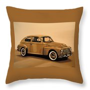 Volvo Pv 544 1958 Painting Throw Pillow