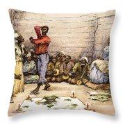 Voodoo Dance, 1885 Throw Pillow