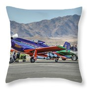 Voodoo Engine Start Sunday Gold Unlimited Reno Air Races Throw Pillow