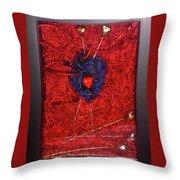 Voodoo Heart Throw Pillow