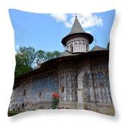 Voronet Monastery Throw Pillow