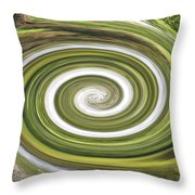 Vortex - River Frays Abstract Throw Pillow