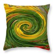 Vortex Abstract Art No. 16 Throw Pillow