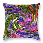 Vortex Abstract Art No. 18 Throw Pillow