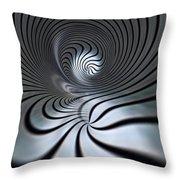 Vortex In Metal  Throw Pillow