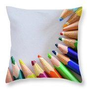 Vortex Of Colored Pencils Throw Pillow
