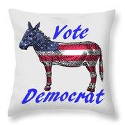 Vote Democrat Throw Pillow