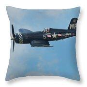 Vought F4u-5 Corsair Throw Pillow