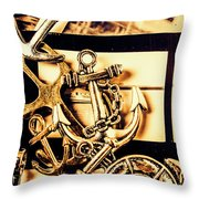 Voyage In Historical Boating Throw Pillow