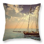 Voyage Of The Cutter Throw Pillow