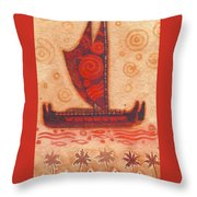 Voyaging Canoe 1 Throw Pillow
