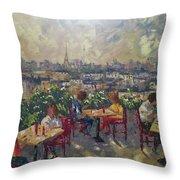 Vue De Paris Throw Pillow