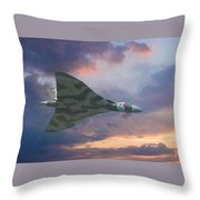 Vulcan Bomber 2 Throw Pillow