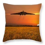 Vulcan Farewell Fly Past Throw Pillow