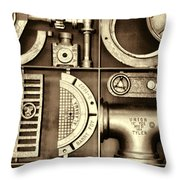 Vulcan Steel Steampunk Ironworks Throw Pillow