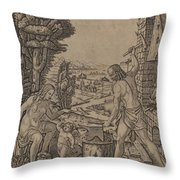 Vulcan, Venus, And Eros Throw Pillow
