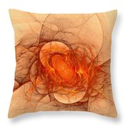 Vulcans Fire Throw Pillow