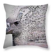 Vulture Break Up Throw Pillow