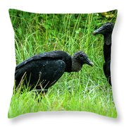Vulture Pair Throw Pillow