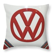Vw Emblem In Red Throw Pillow