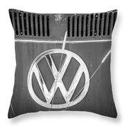 Vw Van Logo Throw Pillow